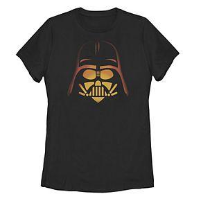 Juniors' Star Wars Glowing Darth Vader Helmet Tee