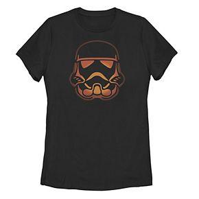 Juniors' Star Wars Glowing Stormtrooper Helmet Tee