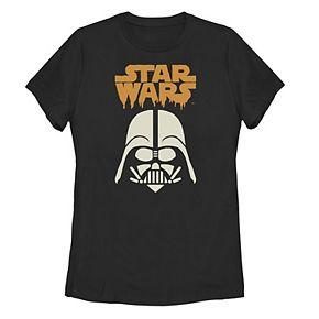 Juniors' Star Wars Darth Vader Helmet Paint Drip Tee