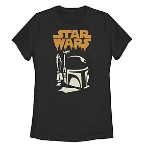 Juniors' Disney Star Wars Boba Fett Logo Graphic Tee