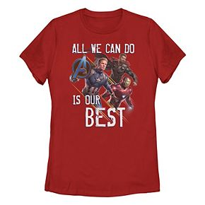 Juniors' Marvel All We Can Do Is Our Best Trio Portrait Tee