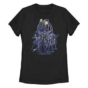 Juniors' Marvel Blue Hue Women Avengers Logo Tee