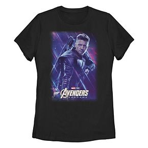 Juniors' Marvel Avengers Endgame Hawkeye Space Poster Tee