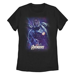Juniors' Marvel Avengers Endgame War Machine Space Poster Tee