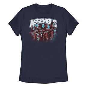 "Juniors' Marvel Women Avengers ""Assemble"" Group Shot Tee"