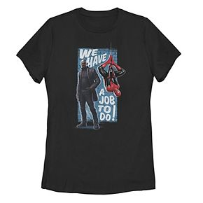 """Juniors' Marvel Spider-Man Far From Home """"We Have A Job To Do"""" Tee"""