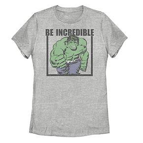 """Juniors' Marvel Vintage Hulk """"Be Incredible"""" Tee"""