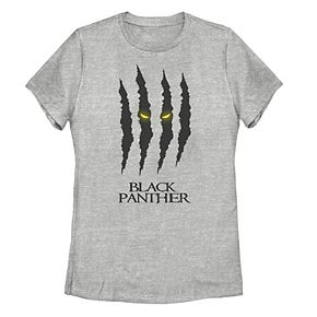 Juniors' Marvel Black Panther Claw Marks Logo Tee