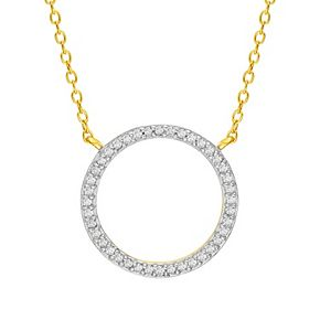 Sterling Silver 1/4 Carat T.W. Diamond Open Circle Necklace