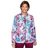 Petite Alfred Dunner Floral Print Quilt Jacket
