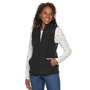 Women's Croft & Barrow® Quilted Faux-Sherpa Vest