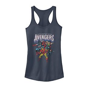 Juniors' Marvel Avengers Classic Vintage Group Shot Tank