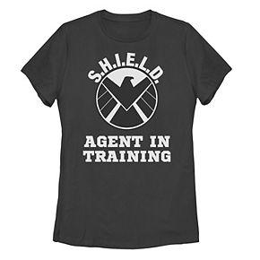 """Juniors' Marvel """"S.H.I.E.L.D. Agent In Training"""" Logo Tee"""
