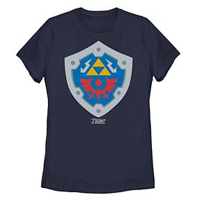 Juniors' Nintendo Legend Of Zelda Link's Awakening Hylian Shield Logo Tee