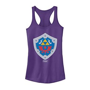 Juniors' Nintendo Legend Of Zelda Link's Awakening Hylian Shield Logo Tank