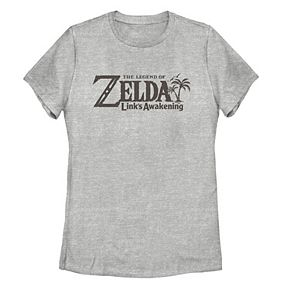 Juniors' Nintendo Legend Of Zelda Link's Awakening Logo Tee