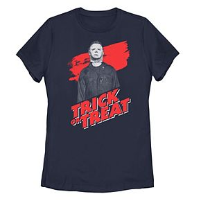 "Juniors' Halloween 2 Michael Meyers ""Trick Or Treat"" Portrait Tee"