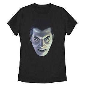Juniors' Universal Monsters Dracula Big Face Tee