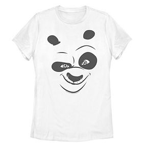 Juniors' Kung Fu Panda Po Face Costume Tee
