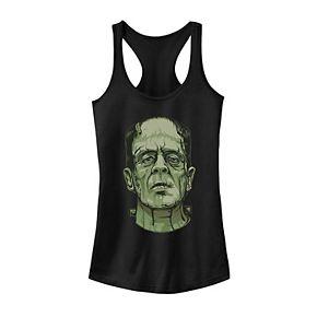 Juniors' Universal Monsters Frankenstein Head Shot Portrait Tank
