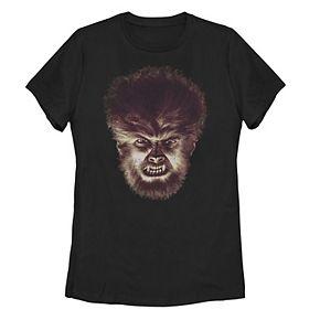 Juniors' Universal Monsters Wolfman Big Face Tee