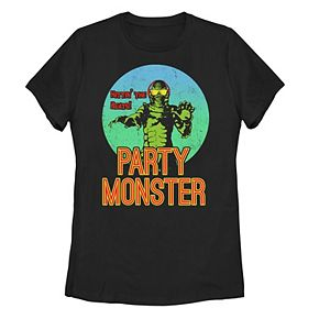 """Juniors' Universal Monsters Creature From The Lagoon """"Party Monster"""" Tee"""