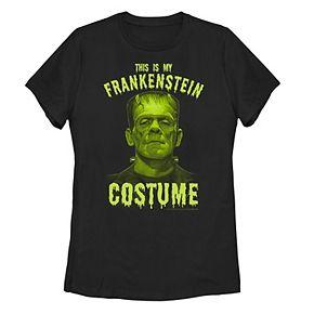 "Juniors' Universal Monsters ""This Is My Frankenstein Costume"" Tee"