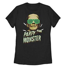 "Juniors' Universal Monsters Frankenstein Sunglasses ""Party Monster"" Tee"