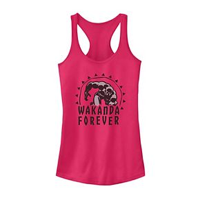 Juniors' Marvel Black Panther Retro Wakanda Forever Tank Top