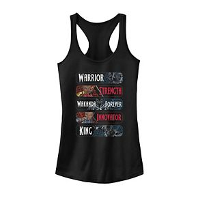 Juniors' Marvel Black Panther Trio Attributes Tank Top