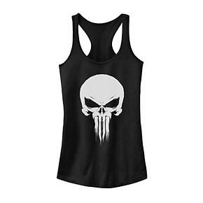 Juniors' Marvel Punisher Fade Skull Logo Tank Top