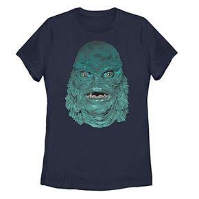 Juniors' Universal Monsters Creature From The Black Lagoon Head Shot Tee