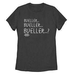 "Juniors' Paramount ""Bueller...?"" Chalkboard Text Tee"