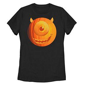 Juniors' ©Disney Pixar Monsters University Mike Wazowski Pumpkin Head Tee