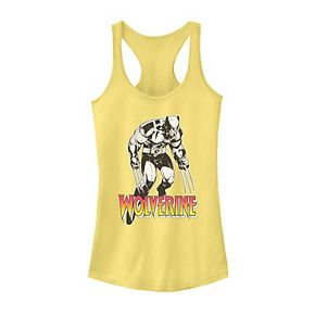 Juniors' Marvel X-Men Retro Wolverine Portrait Logo Tank Top