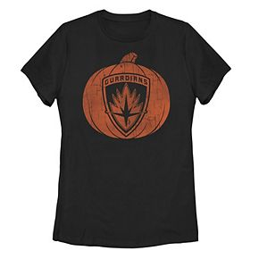 Juniors' Marvel Guardians Of The Galaxy Pumpkin Carving Tee