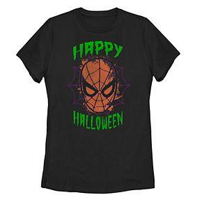 "Juniors' Marvel Spider-Man ""Happy Halloween"" Mask Tee"