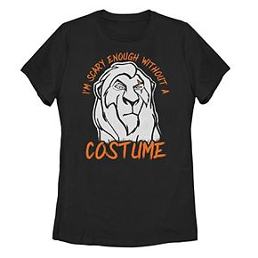 """Juniors' ©Disney Lion King Scar """"I'm Scary Enough Without A Scar Costume"""" Tee"""