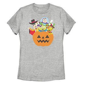 Juniors' Disney / Pixar Toy Story Pumpkin Surprise Group Shot Tee
