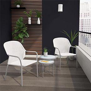 CosmoLiving Neesa Patio Chair & End Table 4-piece Set