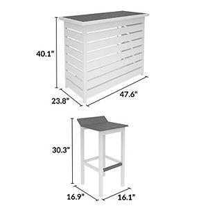 CosmoLiving Ariesa Indoor / Outdoor Bar 3-piece Set
