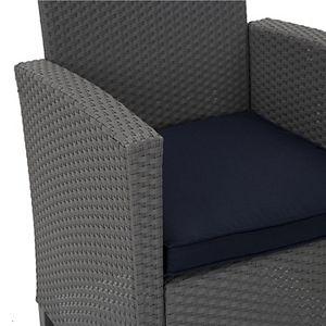 Cosco Outdoor Living 4 Piece Malmo Resin Wicker Patio Deep Seating Conversation Set