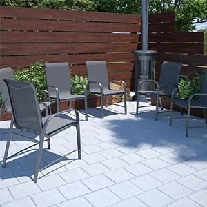 Cosco Outdoor Living Paloma Steel Patio Dining Chairs