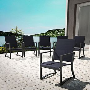 Cosco Outdoor Living Dining Chair 6-piece Patio Set