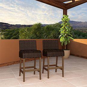 Cosco Outdoor Living SmartWick Bar Stools 2-piece Patio Set