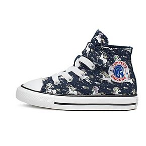Toddler Girls' Converse Chuck Taylor All Star Unicorns High Top Shoes