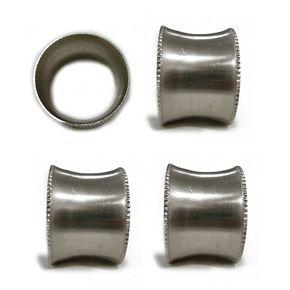 Food Network? Metallic Square Napkin Rings 4-pack