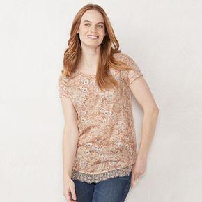 Women's LC Lauren Conrad Bow Back Shirttail Tunic