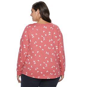Plus Size SONOMA Goods for Life? V-Neck Easy Sweatshirt