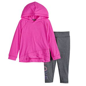 Baby Girl Jumping Beans® Crisscross Pullover Hoodie & Leggings Set
